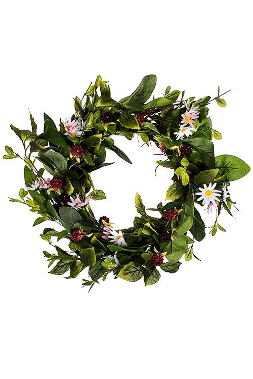 Украшение декоративное Венок - ягодная симфонияДекоративные цветы<br>Д=35см, полиэстер, пенопласт, натур. матер.<br>