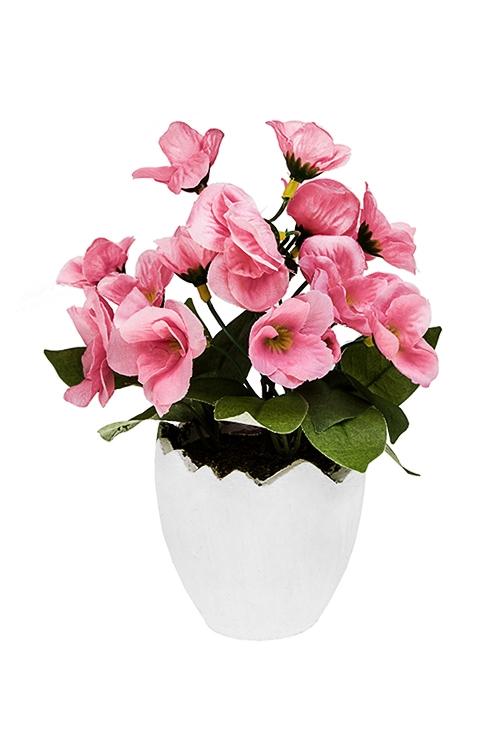 Украшение для интерьера Фиалки в скорлупкеДекоративные цветы<br>Выс=18см, пенопласт, полиэстер, бумага<br>