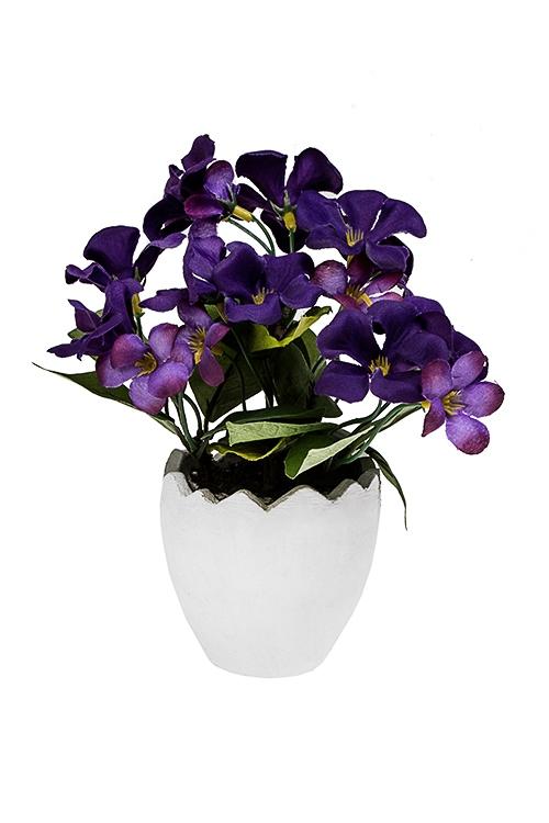 Украшение для интерьера Цветочки в скорлупкеДекоративные цветы<br>Выс=18см, пенопласт, полиэстер, бумага<br>