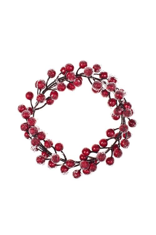 Украшение для интерьера Венок - Зимние ягодыПодарки<br>Д=20см, натур. матер., пенопласт, пластм.<br>