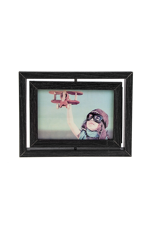 Рамка для 2-х фото Любимые моментыИнтерьер<br>16*21см, фото 10*15см, МДФ, черная<br>