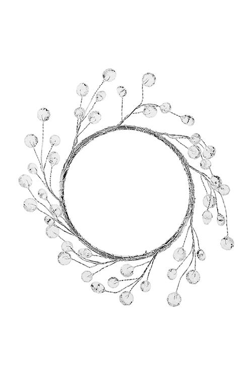 Украшение для интерьера Венок - льдинкиПодарки на Новый год 2018<br>Д=15см, акрил, металл, прозр.<br>