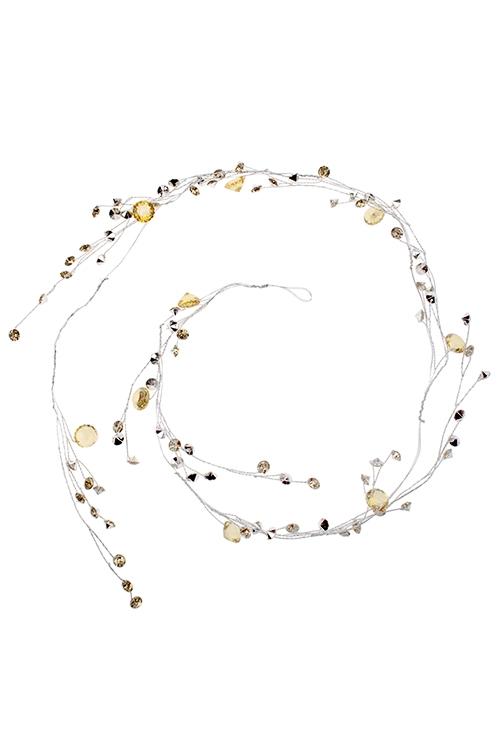 Гирлянда декоративная Драгоценные камниДекоративные гирлянды и подвески<br>Дл=1.2м, акрил, металл, золот.<br>