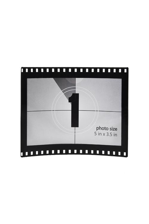 Рамка для фото Кадр из фильмаПластиковые фоторамки<br>13*11см, фото 12*8.5см, пласт., черно-белая<br>