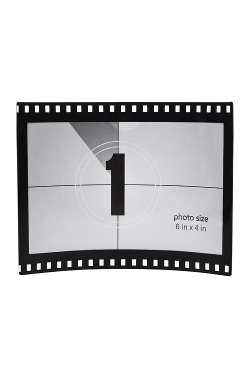 Рамка для фото Кадр из фильмаПластиковые фоторамки<br>13*12см, фото 16*13см, пласт., черно-белая<br>