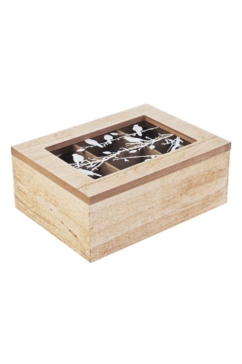 Шкатулка для ювелирных украшений Воркующие птичкиШкатулки для украшений<br>19*14*8см, МДФ<br>