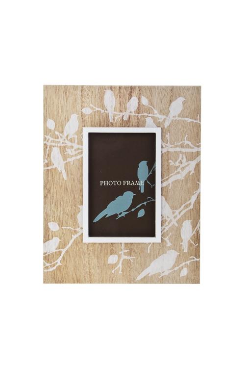 Рамка для фото Воркующие птичкиДеревянные фоторамки<br>21*27см, фото 10*15см, МДФ, стекло<br>