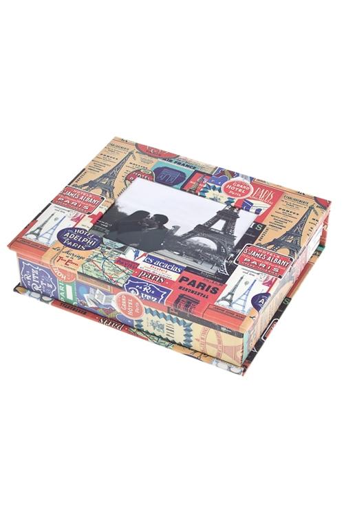 Набор подарочный Увлекательный ПарижШкатулки и наборы по уходу<br>Бум. (шкатулка с рамкой 9*11см, альбом на 28 фото 10*15см)<br>