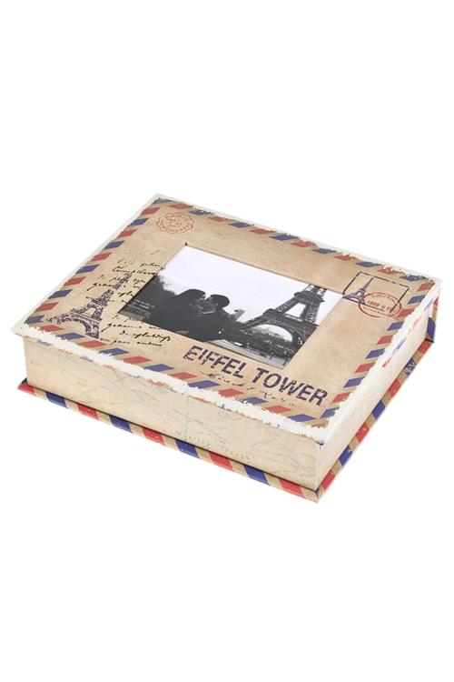 Набор подарочный Эйфелева башняШкатулки и наборы по уходу<br>Бум. (шкатулка с рамкой 9*11см, альбом на 28 фото 10*15см)<br>