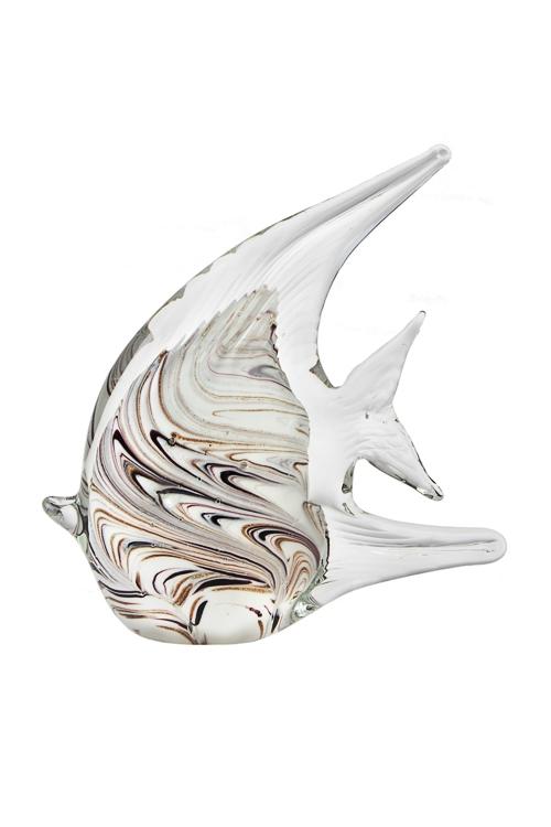 Украшение для интерьера Прекрасная рыбкаПодарки для женщин<br>Дл=14см, стекло, крем.-коричн.<br>