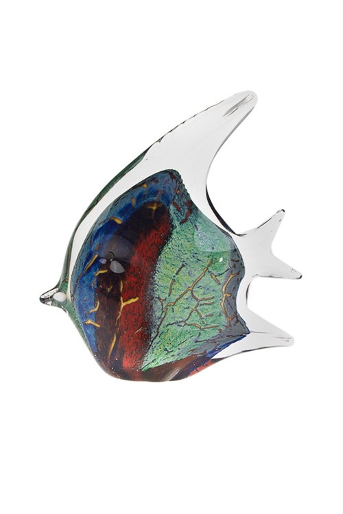 Украшение для интерьера Прекрасная рыбкаСтеклянные статуэтки<br>Выс=18см, стекло, разноцв.<br>