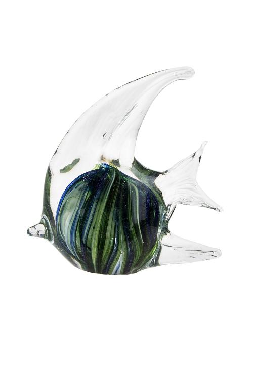 Украшение для интерьера Рыбка-бабочкаИнтерьер<br>12*5*13см, стекло, сине-зеленое<br>