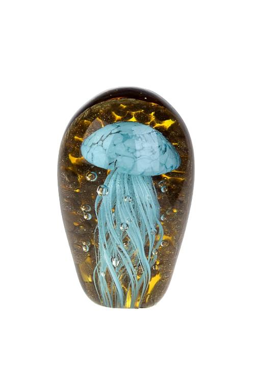 Украшение для интерьера МедузаПодарки<br>7.5*12см, стекло, коричн.-голуб.<br>