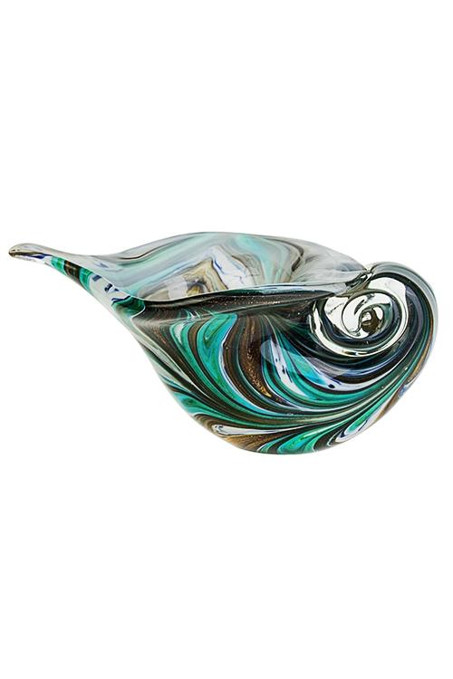 Украшение для интерьера Морская ракушкаИнтерьер<br>24*15*12см, стекло, коричн.-бело-зеленое<br>