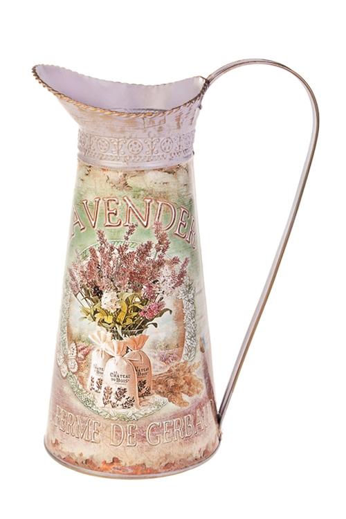Ваза декоративная ЛавандаВазы для цветов<br>Выс=27см, в форме кувшина, металл<br>