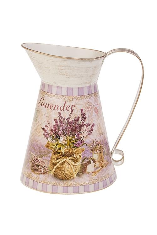 Ваза декоративная Лавандовая мечтаВазы для цветов<br>Выс=21см, в форме кувшина, металл<br>