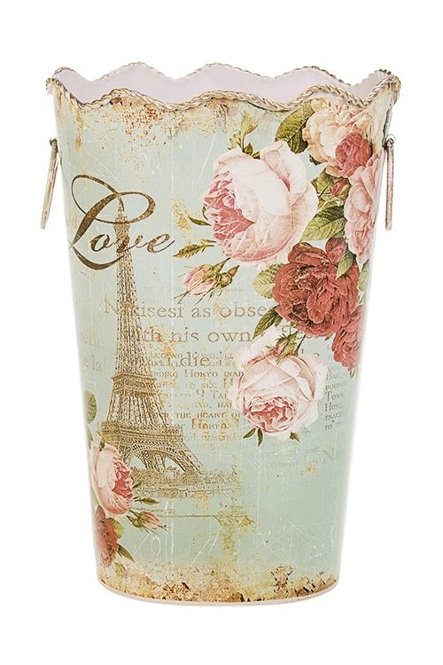 Ваза декоративная Из Парижа с любовьюИнтерьер<br>Выс=28см, металл<br>