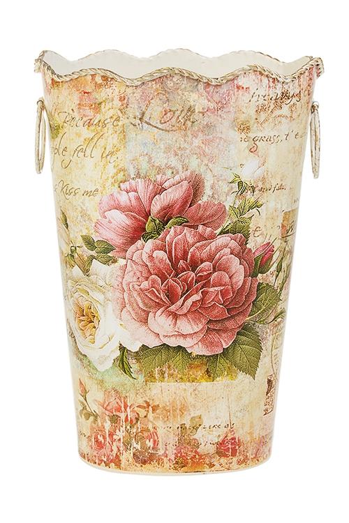 Ваза декоративная Цветы ПровансаПодарки ко дню рождения<br>Выс=28см, металл<br>