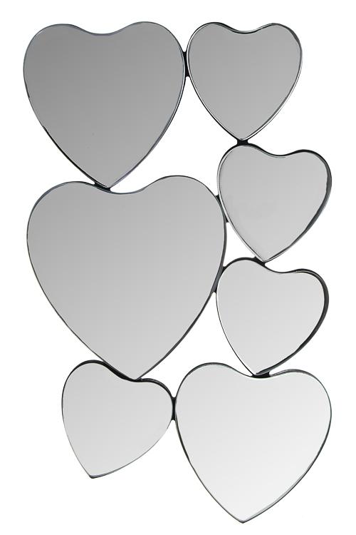 Зеркало настенное СердцаЗеркальца и таблетницы<br>30*50см, стекло, МДФ<br>