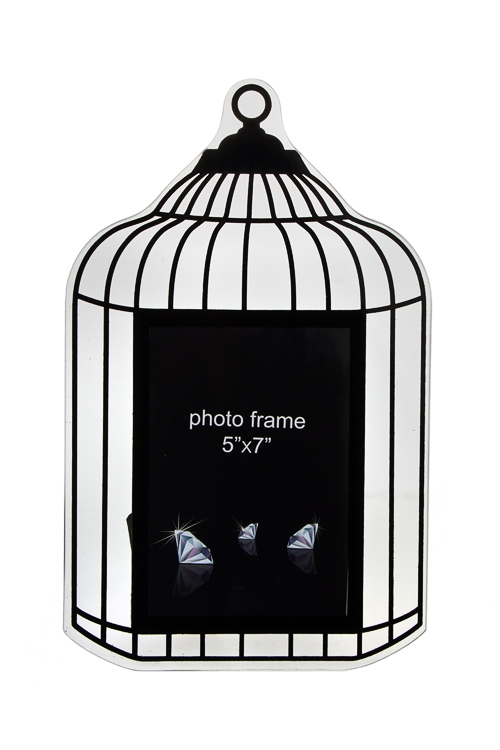 Рамка для фото Зеркальная клеткаИнтерьер<br>22*35см, фото 13*18см, стекло<br>
