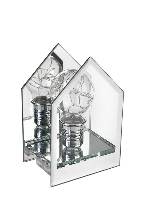 Украшение для интерьера светящееся ДомДекор с подсветкой<br>10*14*7см, стекло, пластм., прозр.-серебр., на батар.<br>