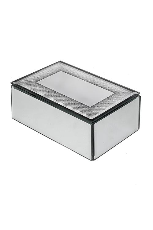 Шкатулка СияниеПодарки<br>15*10*6см, стекло, пластм., серебр.<br>