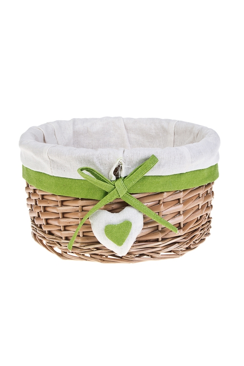 Корзинка декоративная СердечкоПодарки<br>25*13см, натур. материал, текстиль<br>