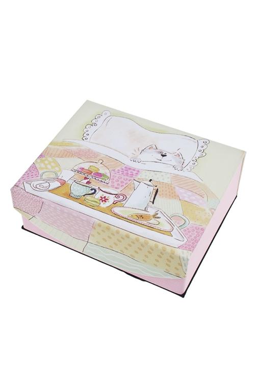 Шкатулка для ювелирных украшений Завтрак мечтыШкатулки для украшений<br>15*13*6см, искусств. кожа, полиэстер<br>