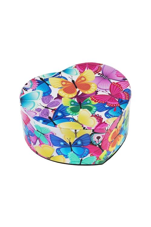Шкатулка БабочкиШкатулки для украшений<br>11*12.5*5.5см, искусств. кожа, полиэстер, разноцв.<br>