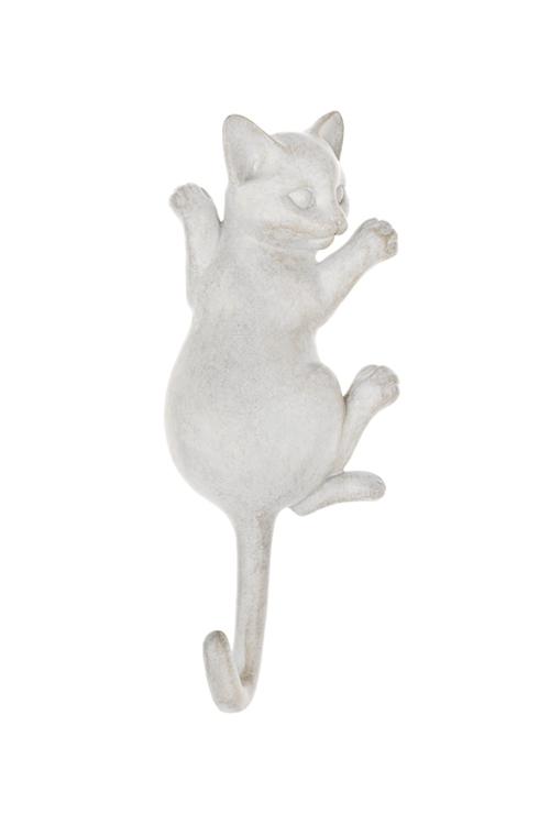 Вешалка декоративная Игривый котенокИнтерьер<br>10*3*23см, полирезин, крем. (2 вида)<br>