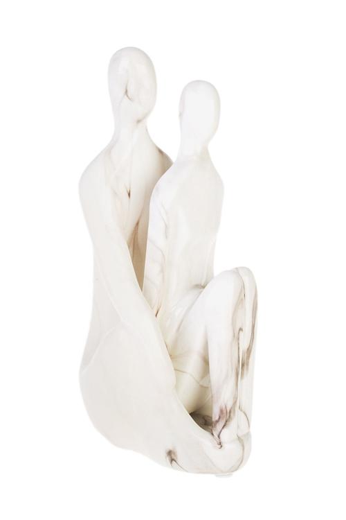Фигурка С любимымКерамические статуэтки<br>Выс=23.5см, керам., крем.-мраморн.<br>