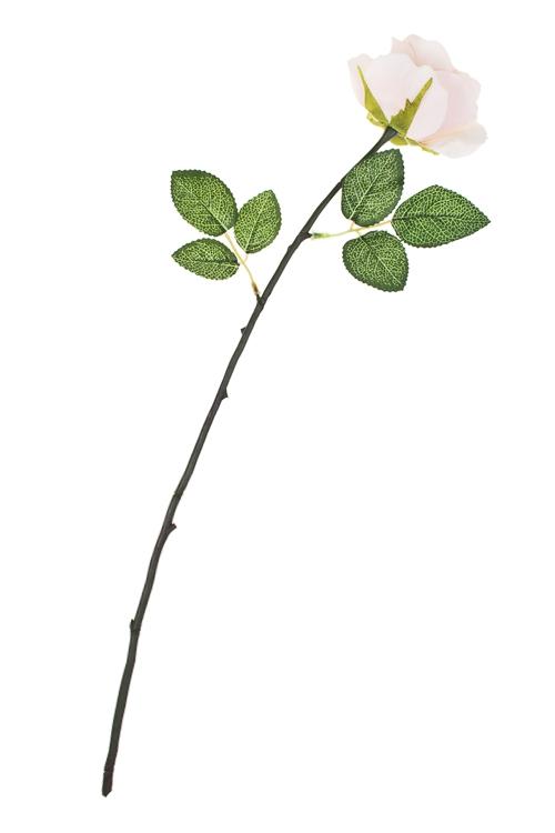 Цветок декоративный РозочкаИнтерьер<br>Выс=53см, полиэстер, пласт., металл, пенопласт, нежно-розовый<br>