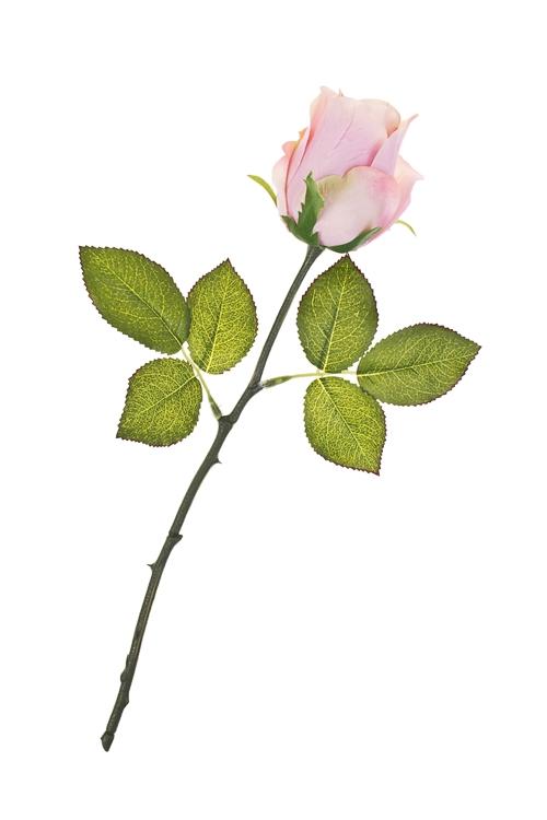 Цветок декоративный БутонИнтерьер<br>Выс=36см, полиэстер, пласт., металл, пенопласт, розовый<br>