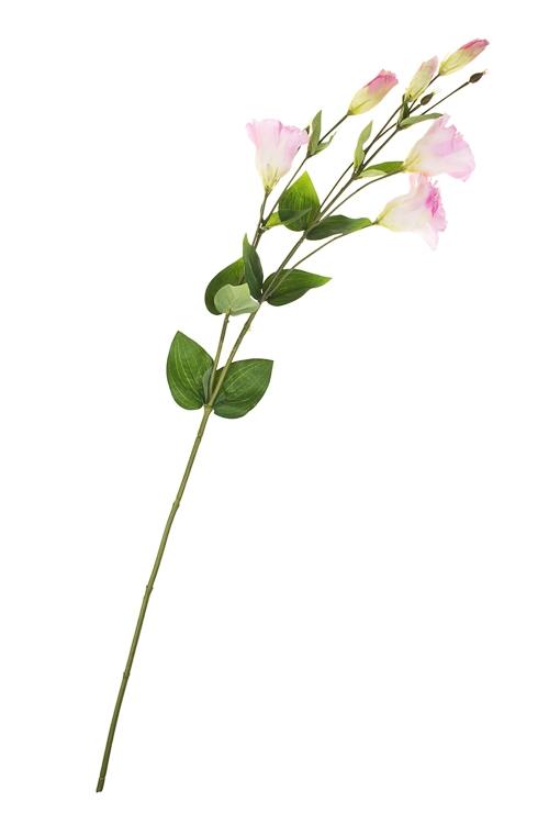 Ветка декоративная ЭустомаИнтерьер<br>Выс=89см, полиэстер, пласт., металл, пенопласт, зелено-розовая<br>
