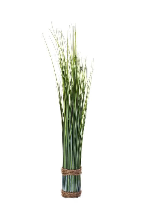 Композиция декоративная ОсокаДекоративные цветы<br>Выс=44см, полиэстер, ПВХ, пенопласт, зеленая<br>