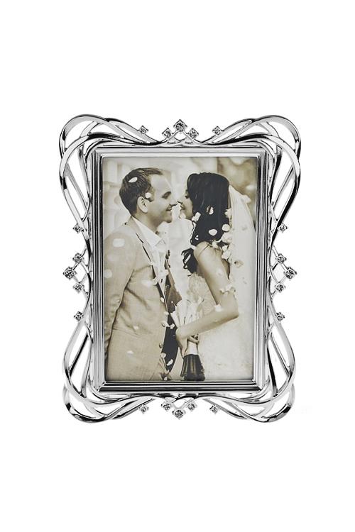 Рамка для фото ОчарованиеИнтерьер<br>20*15см, фото 10*15см, металл, серебр.<br>