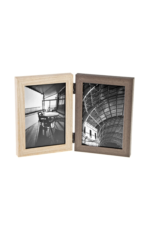 Рамка для 2-х фото Европейский стильИнтерьер<br>18*27см, фото 10*15см, пластм., стекло<br>