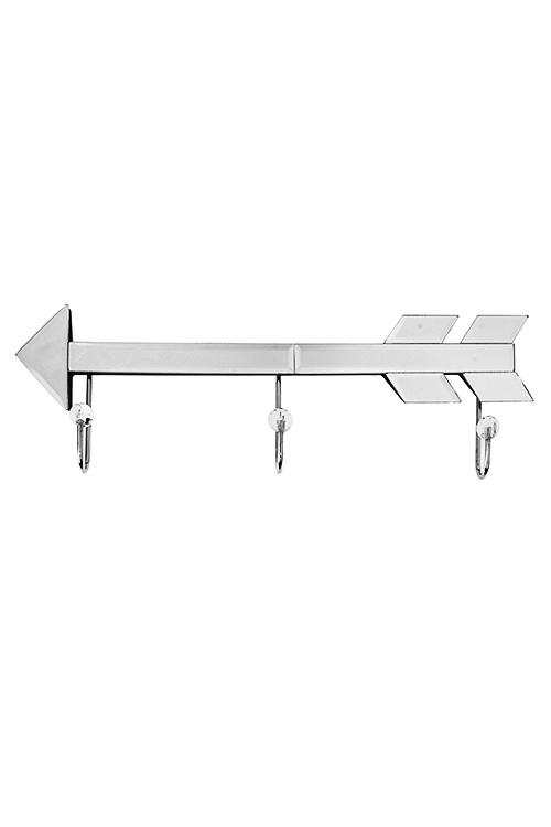 Вешалка декоративная СтрелаИнтерьер<br>37*12см, стекло, с 3-мя крючками<br>