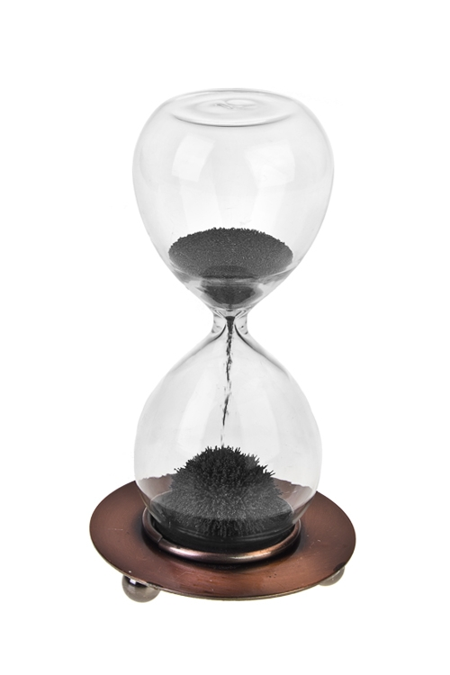 Часы песочные Магический песокИнтерьер<br>Выс=12см, стекло, металл (30 сек.)<br>