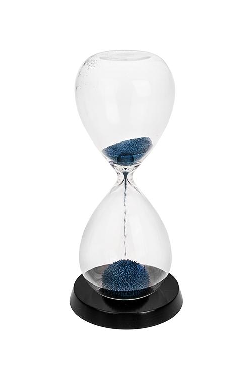 Часы песочные Магический песокИнтерьер<br>Выс=20см, стекло, металл (1 мин.)<br>