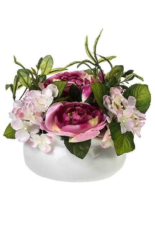 Композиция декоративная Трепет лепестковДекоративные цветы<br>Выс=19см, в горшке<br>