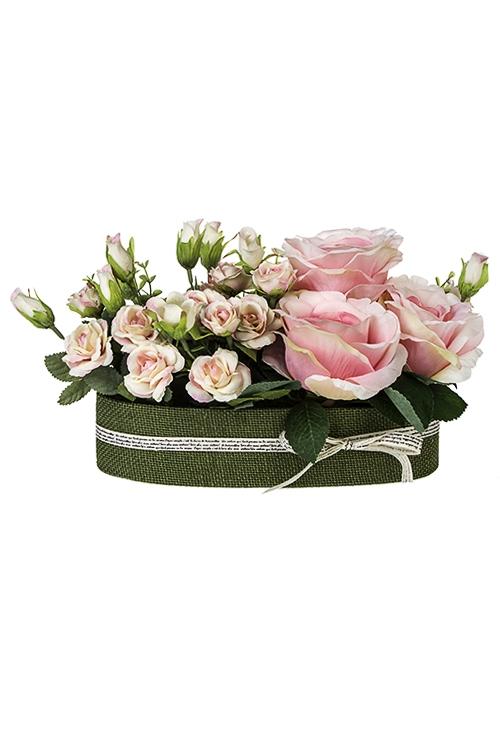 Композиция декоративная ЛеаДекоративные цветы<br>30*18см, в кашпо<br>