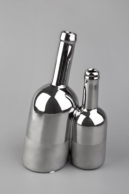 Ваза декоративная ДуэтКерамические вазы и кашпо<br>Выс=24см, керам., серебр.<br>