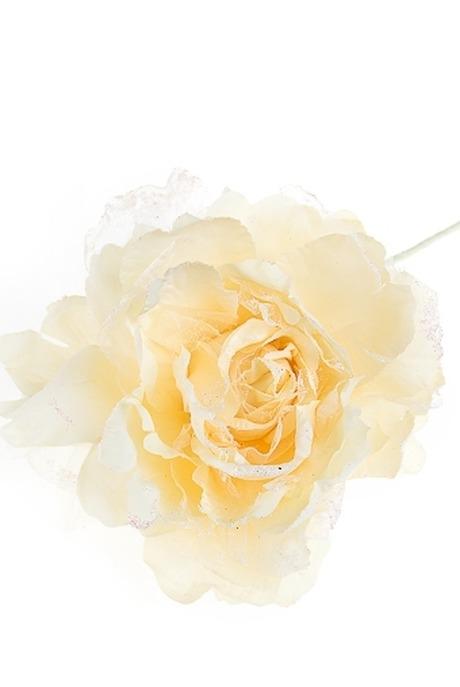 Цветок декор. Изысканный пионДекоративные цветы<br>Д=20см текстиль крем.<br>