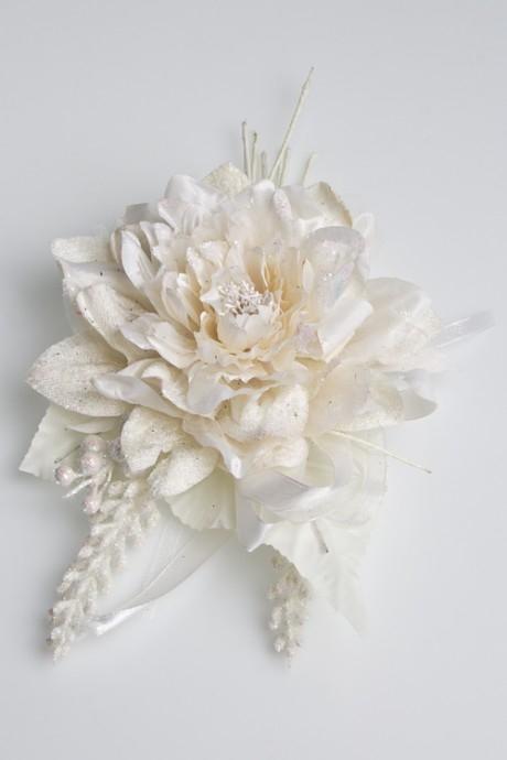 Цветок декор. ОчарованиеДекоративные цветы<br>Выс=28см, Д=17см, текстиль, пластм., крем.<br>
