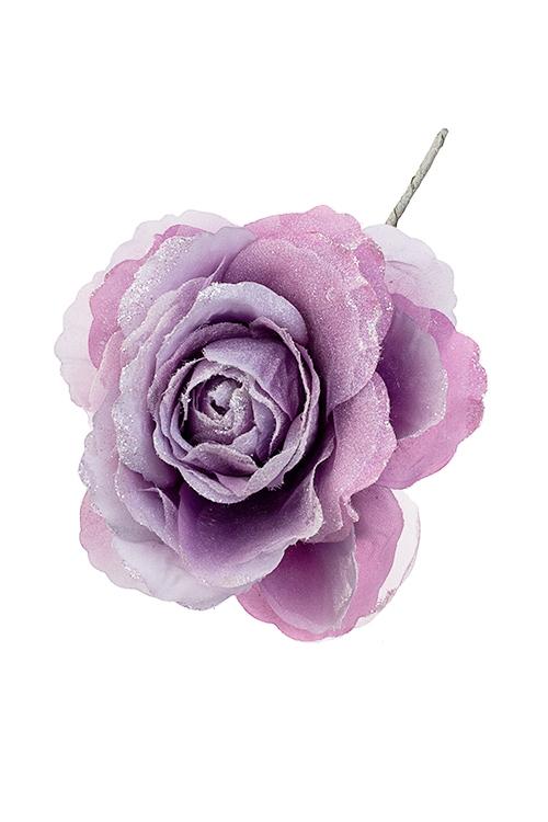 Цветок декоративный Лавандовая розаПодарки на Новый год 2018<br>Выс=25см, Д=15см, текстиль, сирен.<br>