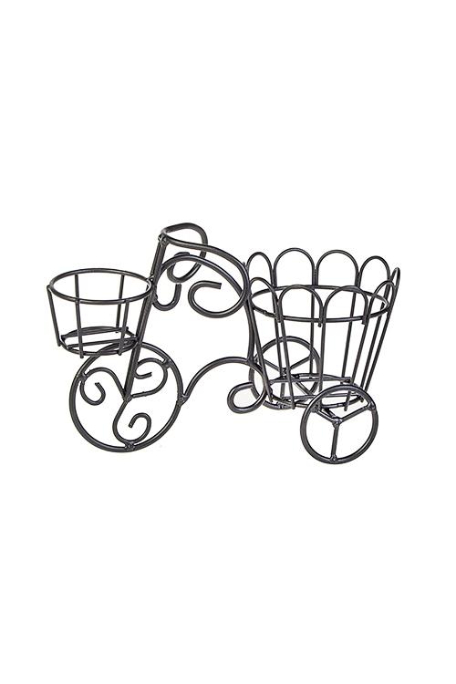 Украшение для интерьера ВелосипедИнтерьер<br>21*10*14см, металл, темно-серое<br>