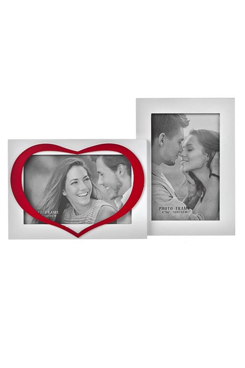 Рамка для фото ИскренностьИнтерьер<br>МДФ, бело-красная. Удобный и оригинальный подарок на 14 февраля.<br>