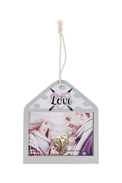 Рамка для фото Любовное посланиеПодарки ко дню рождения<br>14*16см, фото 9*12см, МДФ (2 вида)<br>