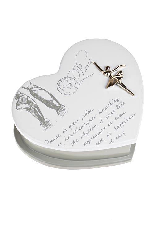 Шкатулка для ювелирных украшений БалеринаШкатулки для украшений<br>20*16*7см, МДФ, крем.-беж.<br>